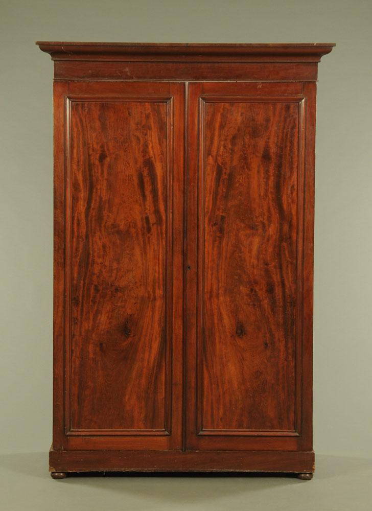 A Victorian mahogany wardrobe,