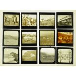 A case of eighty four late Victorian/early 20th century magic lantern slides,