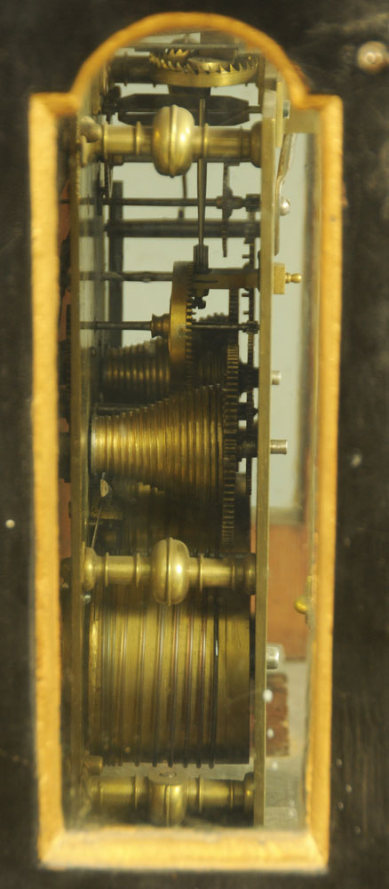 A black and gilt painted bracket clock, - Image 4 of 5