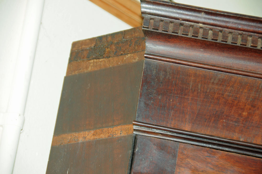 An early 19th century mahogany standing corner cupboard, - Image 3 of 13