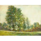 """Jean Ernest Duroeulx (1898-1967), oil painting on canvas """"Contre-Jour Sur a la Hisse"""", Bretagne,"""