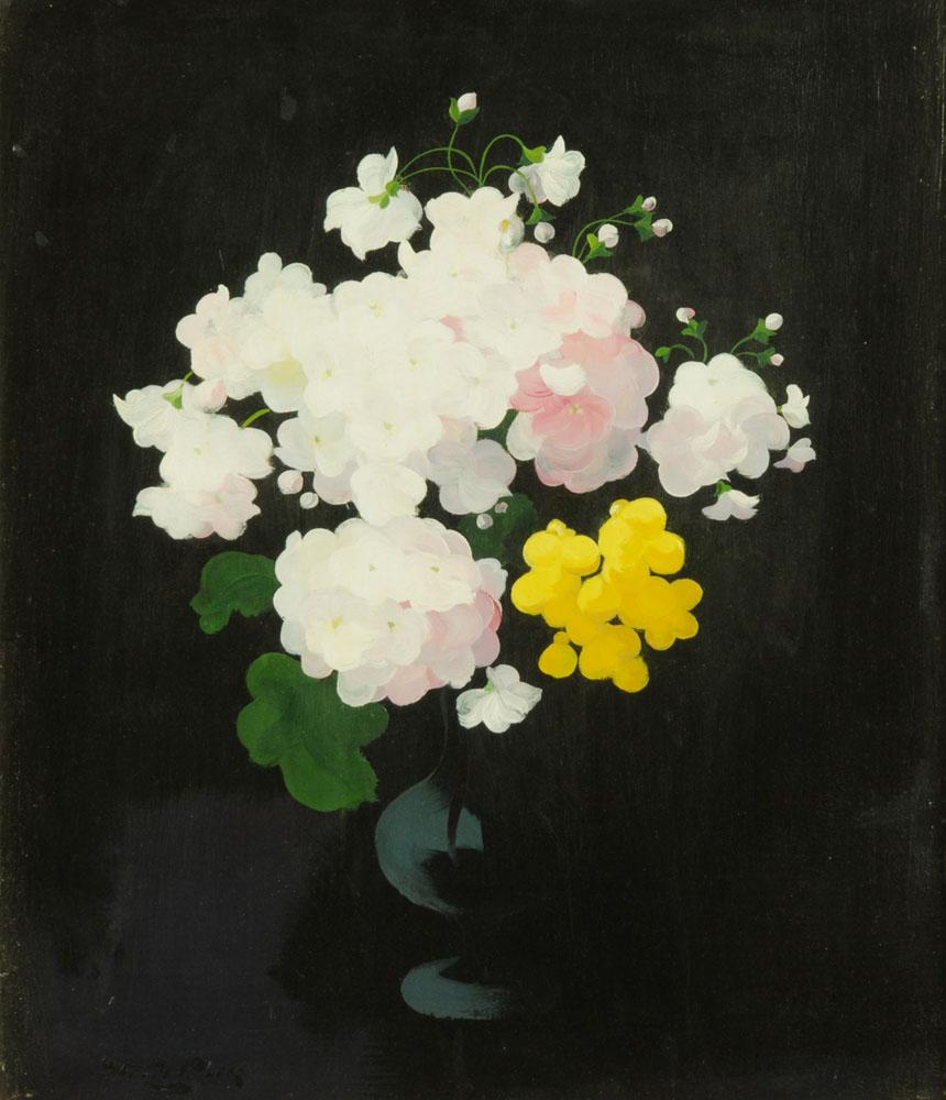 James Stuart Park (1862-1933) oil on board, still life flowers in vase, 60 cm x 49 cm, framed,