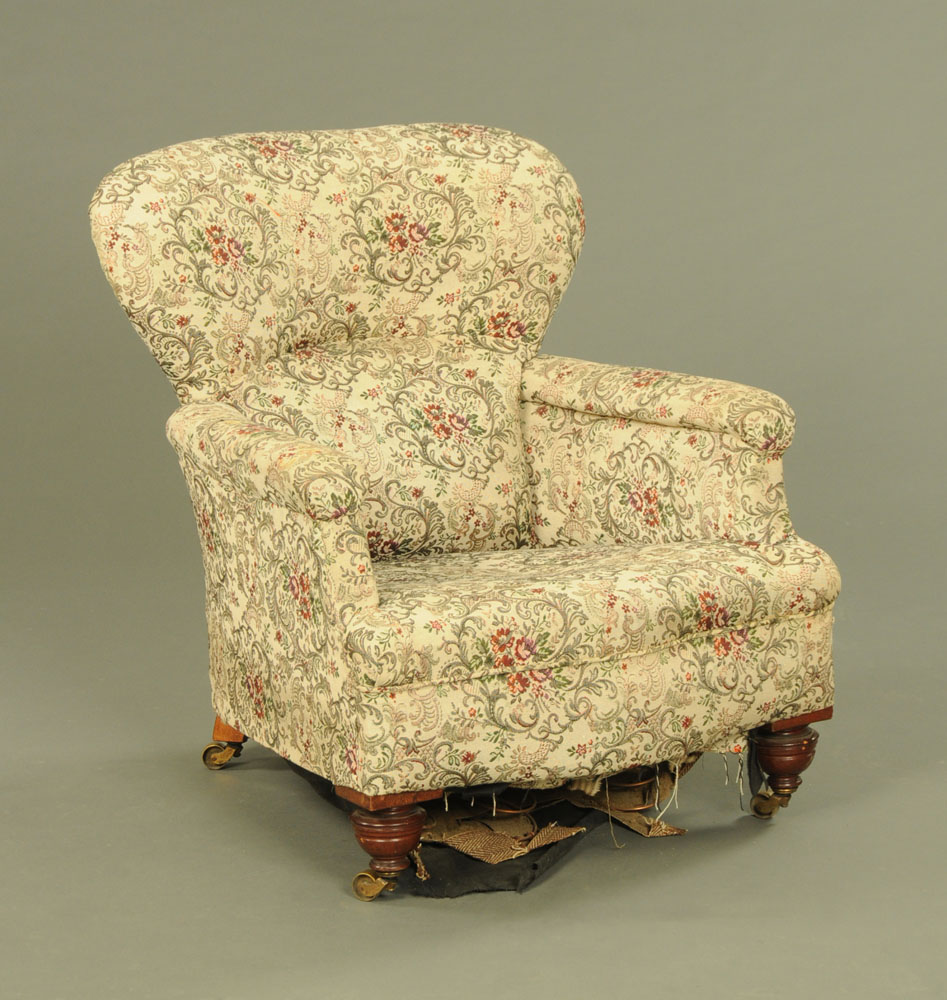 A late Victorian armchair,