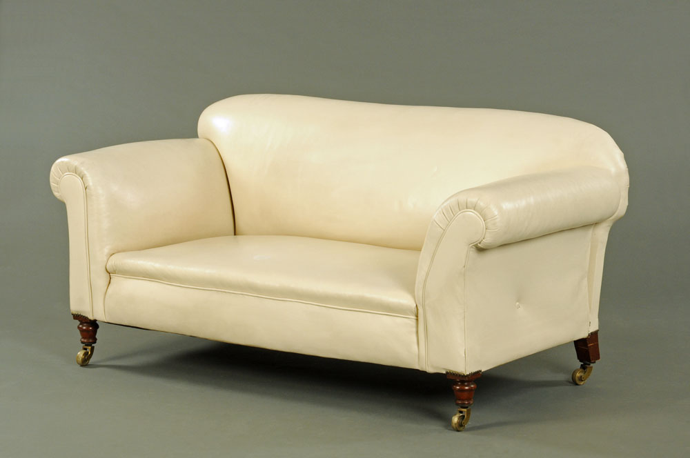 A late Victorian Chesterfield settee,