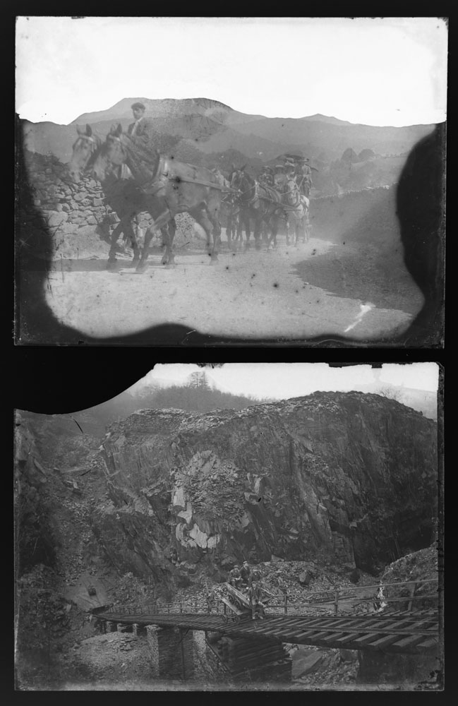 Early 20th century photographic glass half and full plates, depicting vintage cars on tour, - Image 9 of 10