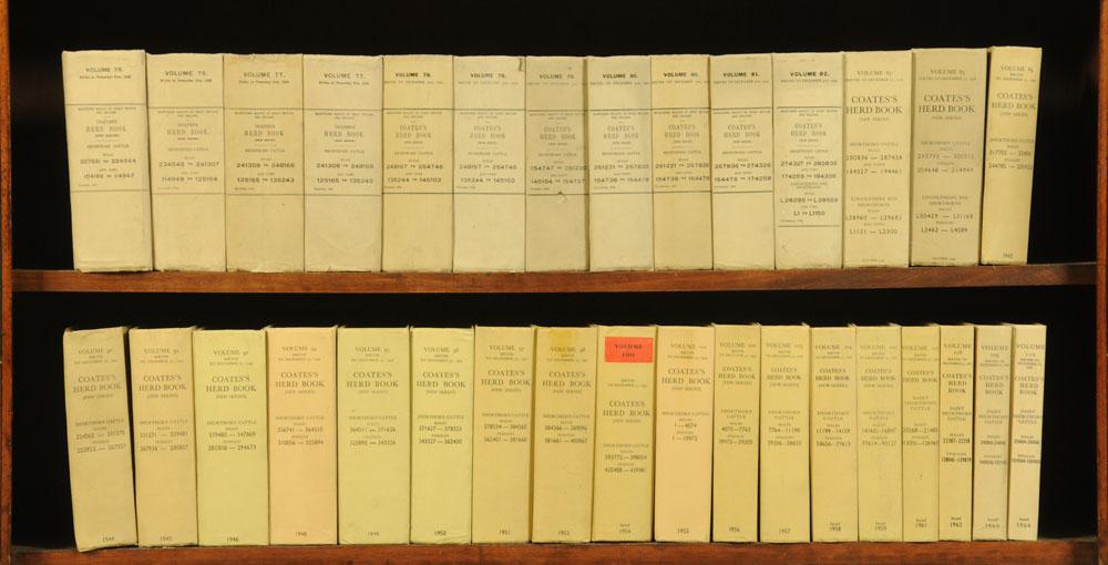 """Seventy volumes """"Coates's Herd Book"""", earliest circa 1901. - Image 3 of 3"""