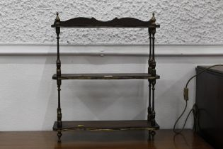 Small set of shelves, freestanding or wall mounted, with 48 cm, height 58 cm.
