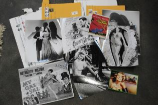Selection of Rita Hayworth fan club magazines and promotional photographs etc.