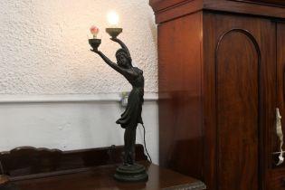 Art Deco style figural lamp,