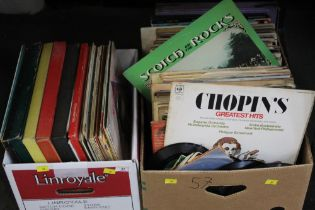 Two boxes of soul LP's