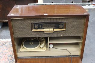 Bush radiogram with built in turntable.