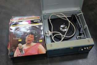 Alba 632 record player and selection of vinyl LP's including large selection of Ella Fitzgerald