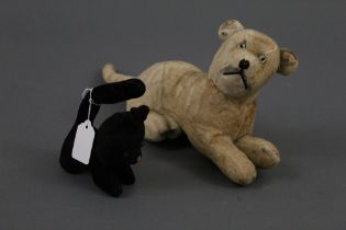 Two early-mid 20th Century stuffed animal soft toys,