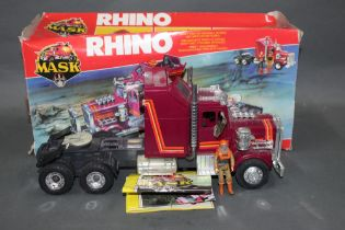 """A 1980's Kenner Mask """"Rhino"""", comprising a tractor,"""