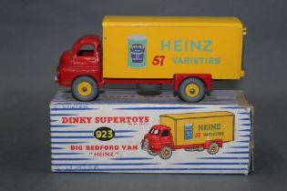 """A Dinky big Bedford van (923), """"Heinz"""" baked beans,"""