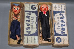"""Two 1950's Pelham puppets, comprising """"School Master"""" and """"Dutch Girl"""", SM range,"""