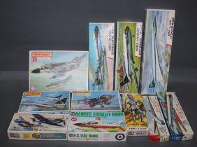 "A group of 11 Matchbox and Airfix model kits, comprising a ""Phantom F-4 M/K model kit,"
