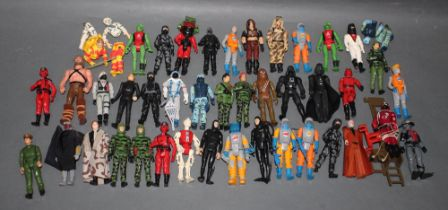 A group of 40 plus miniature action figures, to include Action Force and LFL,