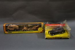 Two 1970's Corgi diecast model vehicle sets, to comprise a quad tractor,