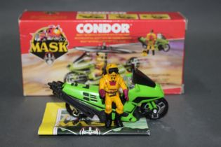 """A 1980's Kenner Parker Mask """"Condor"""", comprising a motorcycle/helicopter with action figure,"""