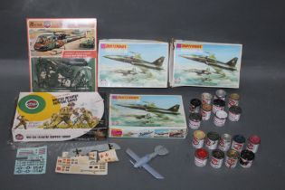 A group lot of Airfix and Matchbox model kits,