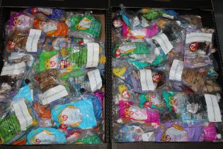 """A collection of 72 MacDonalds Happy Meal """"TY Teenie Beanie Babies"""" toys, all still sealed,"""