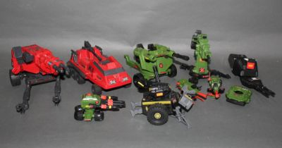 A group of Action Force and GI Joe vehicles and weapons,