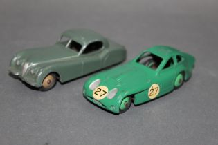 Two 1950's Dinky model cars, to comprise a Bristol 450 coupe (163),