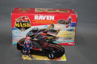 """A 1980's Kenner Mask """"Raven"""", comprising a Corvette/Armed Seaplane with Calhoun Burns action figure,"""