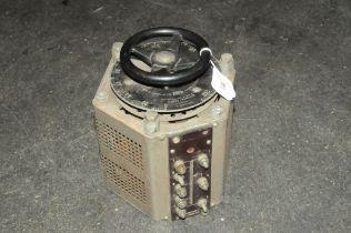 A Variac voltage control meter