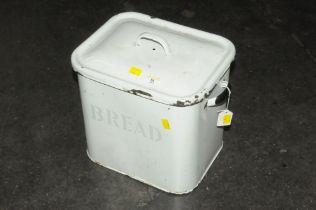 Vintage enamelled bread bin