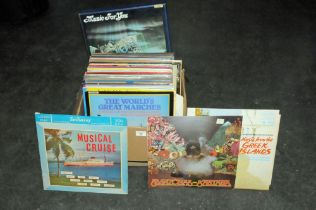 Box of approx 50 LP's,