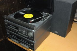 Sharp music system, double cassette player,