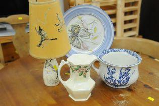Decorative plate, chamber pot,