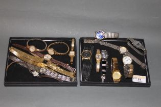 A ladies 9 ct gold cased wristwatch, 15 other mixed wristwatches,