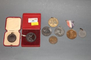 8 mixed medallions including King George VI coronation