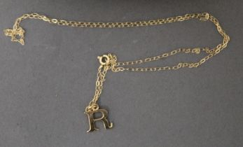A 9 ct gold necklace,