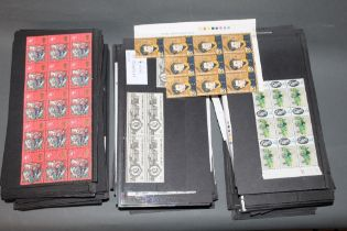 A quantity of mid 20th century and later UK part sheets of unfranked stamps including county