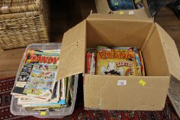 2 boxes of comics to include The Beano