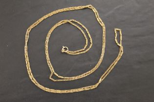 A 15 ct gold necklace with elongated links 74 cm long weight 33 g