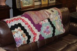 A vintage paisley shawl 320 cm long x 135 cm wide (light staining and small holes) with patch work