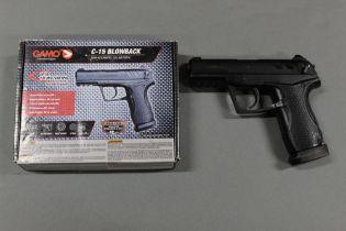 A Gammo C15 Blowback semi automatic CO2 air pistol, cal 177. Serial No. 16A02268.