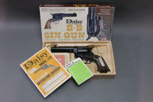Daisy model 179 cal 177 BB air pistol, boxed. Serial No. DO35284X.