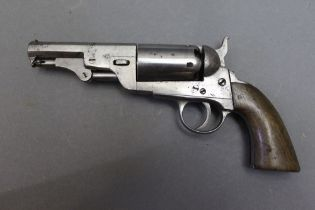 """* A revolver with a 3 1/2"""" barrel and five shot cylinder, the plain frame stamped 24549."""
