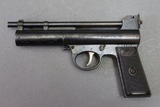 * Webley Mark 2 target model cal 22 air pistol, circa 1925-1930. Serial No. 29025.