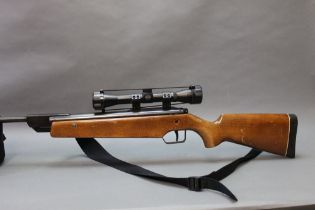 Original model 45 cal 22 break barrel air rifle, stamped Made in West Germany,