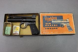 * The Webley Junior cal 177 air pistol,