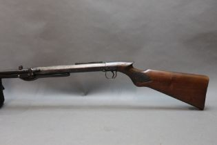 """* BSA standard cal 22 under lever air rifle, with a 19 1/2"""" barrel, 45"""" overall,"""