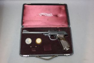 * Walther LP 53 cal 177 air pistol, in an original Walther case. Serial No. 048007.