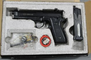 A GSG 92 cal 177 BB air pistol, with box instructions etc. Serial no. W01090729283.